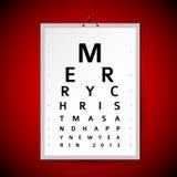 Vektorjulen eye provdiagrammet som xmas-kort Arkivbild