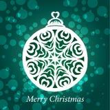Handgjord snowflake för vektorjultoy Royaltyfri Bild