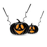 Vektorkürbis Halloween und weißer Hintergrund lizenzfreie abbildung