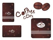 Vektorkaffee-Kaffeeset Stockbild