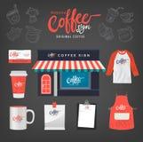 Vektorkaffeerestaurant Lizenzfreies Stockfoto