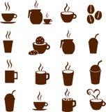 Vektorkaffeeschokolade und heiße Getränkegetränke Lizenzfreie Stockfotografie