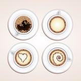 Vektorkaffeetassen Lizenzfreie Stockbilder