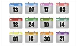 Vektorkalenderikone Stockbilder