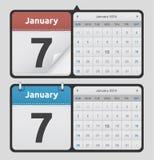 Vektorkalendrar stock illustrationer