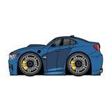 Vektorkarikatur-Blauauto lizenzfreies stockfoto