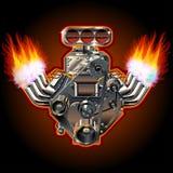 Vektorkarikatur-Turbo-Motor Stockbilder