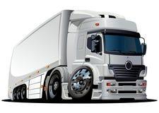 Vektorkarikaturanlieferung/Ladung HalblKW Stockbild