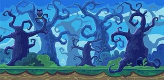 Vektorkarikaturillustration des feenhaften Waldes stockfotos