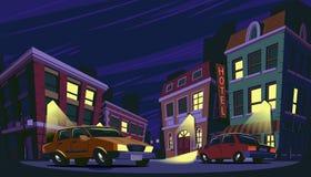 Vektorkarikaturillustration des historischen Stadtgebiets Lizenzfreie Stockfotografie