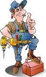 Vektorkarikaturillustration eines Heimwerkers Lizenzfreie Stockfotografie