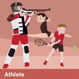 Vektorkarikatursatz des athletischen Sports Lizenzfreie Stockbilder