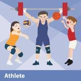 Vektorkarikatursatz des athletischen Sports Stockfotos