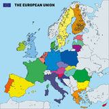 Vektorkarte der Europäischen Gemeinschaft Stockfotografie