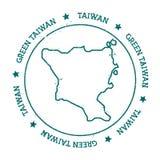 Vektorkarte der grünen Insel, Taiwan Stockfotos