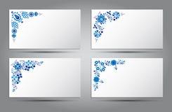 Vektorkarte der traditionellen Volksmuster Lizenzfreie Stockfotografie