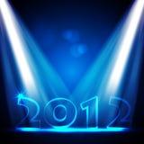 Vektorkarte des neuen Jahr-2012 Stockbild