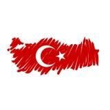 Vektorkarte die Türkei Stockfotos