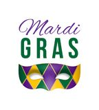 Vektorkarte für Mardi Gras-Maskerade Lizenzfreie Stockfotos