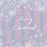 Vektorkarte für Weihnachten lizenzfreie abbildung