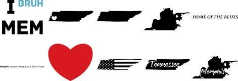 Vektorkarte Memphis Tennessee mit amerikanischer Flagge lizenzfreie abbildung