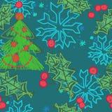 Vektorkarte mit Weihnachtskugel stock abbildung