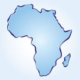 Vektorkarte von Afrika Lizenzfreie Stockbilder