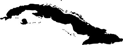Vektorkarte von Kuba stock abbildung