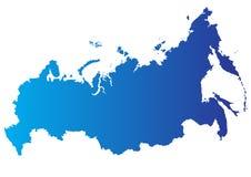 Vektorkarte von Russland Lizenzfreie Stockbilder
