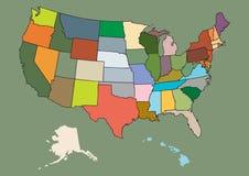 Vektorkarte von US Lizenzfreie Stockfotos
