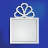 Vektorkasten mit Platz für Ihre Mitteilung Lizenzfreie Stockfotografie