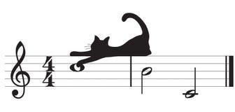 Vektorkatzen und -musik Stockfoto