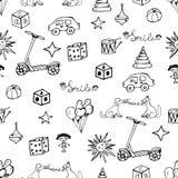 Vektorkinderhand gezeichnetes Muster Stockbilder