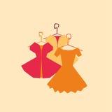 Vektorklänningar, elegant samling Arkivbilder