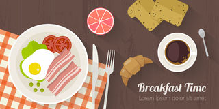 Vektorkochzeitillustration mit flachen Ikonen Neues Lebensmittel und Materialien auf Küchentisch in der flachen Art Lizenzfreies Stockfoto