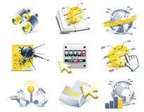 Vektorkommunikations-Ikonenset. Internet, Teil 2 Lizenzfreie Stockfotos