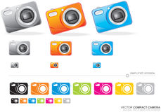 Vektorkompakte Kamera Stockfotografie