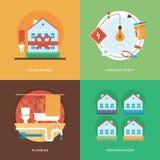 Vektorkonstruering, bransch av byggnad och utvecklingsuppsättningen för apps för rengöringsdukdesign och mobil Illustration för h Royaltyfria Foton