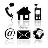 Vektorkontaktsymboler Arkivfoto