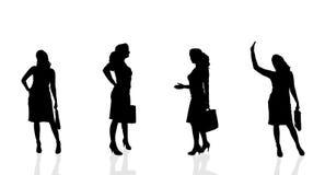 Vektorkontur av affärskvinnan Arkivbilder