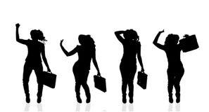 Vektorkontur av affärskvinnan Royaltyfria Bilder