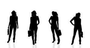 Vektorkontur av affärskvinnan Arkivfoto