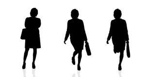 Vektorkontur av affärskvinnan Royaltyfri Bild