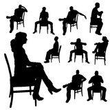 Vektorkontur av en kvinna stock illustrationer