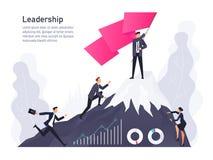 Vektorkonzept der Führung in einer flachen Art lizenzfreie abbildung