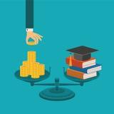 Vektorkonzept der Investition in der Bildung lizenzfreie abbildung
