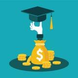 Vektorkonzept der Investition in der Bildung stock abbildung