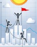 Vektorkonzept der Teamwork und der Führung Stockfotos