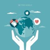 Vektorkonzeptillustration der besseren Welt Lizenzfreies Stockfoto