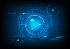 Vektorkonzeptzusammenfassungs-Hintergrundtechnologie Lizenzfreie Stockfotos